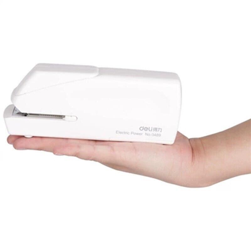 Deli0489 nueva fuente de alimentación Dual automática grapadora eléctrica máquina de encuadernación Oficina o escuela papelería oficina suministros de encuadernación-in Grapadora from Suministros de oficina y escuela    3