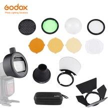 Godox S R1/AK R1/BD07/H200R/AD P/AD L/EC200 פלאש מבזק מתאם אסם דלת, חוטם, צבע מסנן רפלקטור עבור AD200 פרו