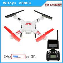 WLtoys V686G 5.8G FPV 2.4 GHz 4CH hélicoptère Auto-Pathfinder RC Quad copter Professionnel Drone avec 2.0MP Caméra VS jjrc V686