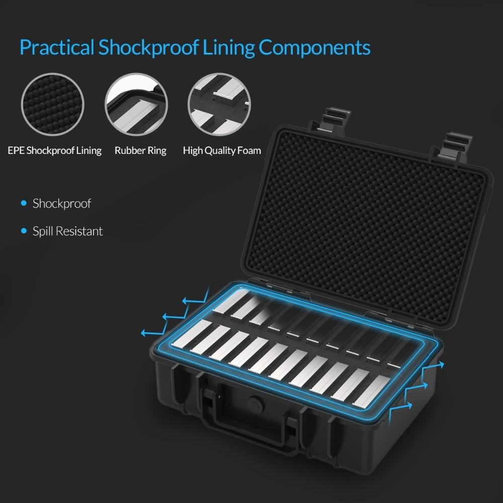 Boîtier de Protection ORICO 20 baies 3.5 pouces pour disque dur avec stockage et Protection HDD étanche à la poussière et aux chocs (PSC-L20) - 6