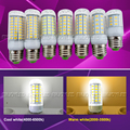 220V E27 E14 LED Corn Light Bulb SMD5730 24 36 48 56 69 LEDs Led Bulb Lampada Chandelier Candle Lighting Transparents Cover Lamp