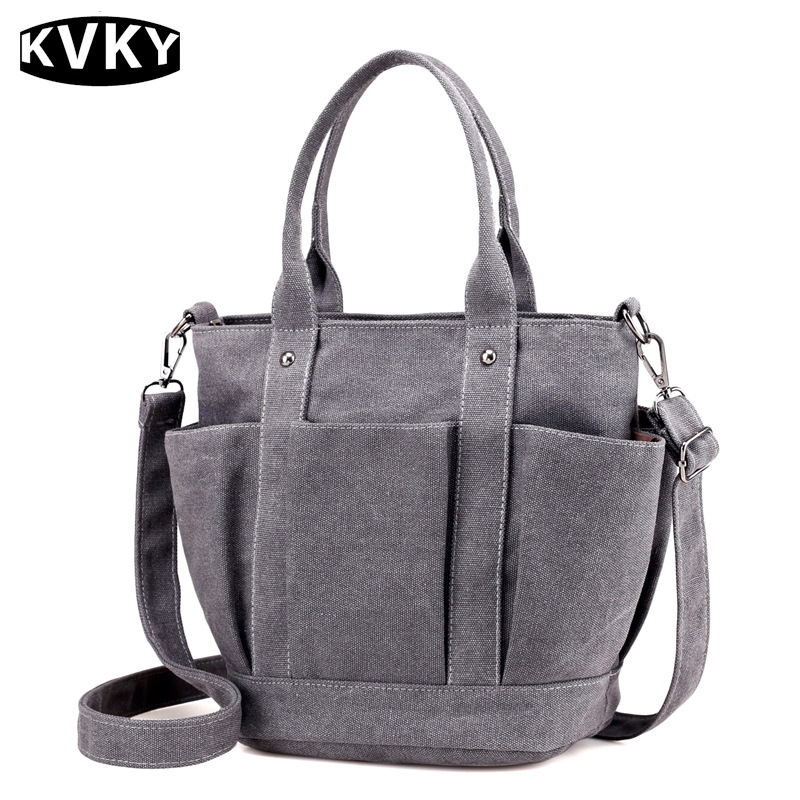 KVKY 2017 New Fashion Big Women Canvas Bag Ladies Shoulder Bags Handbags Women Famous Brands Large Captain Casual Tote Bags new woman shoulder bags cute canvas women big bags literature and art cartoon girls small fresh bags casual tote