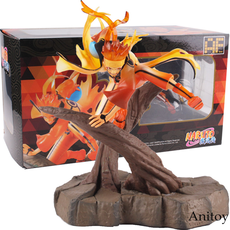 Naruto Shippuden Uzumaki Naruto Figurine Ootutuki Hagoromo Ver. PVC Anime Action Figures Collectible Model Toy with Light