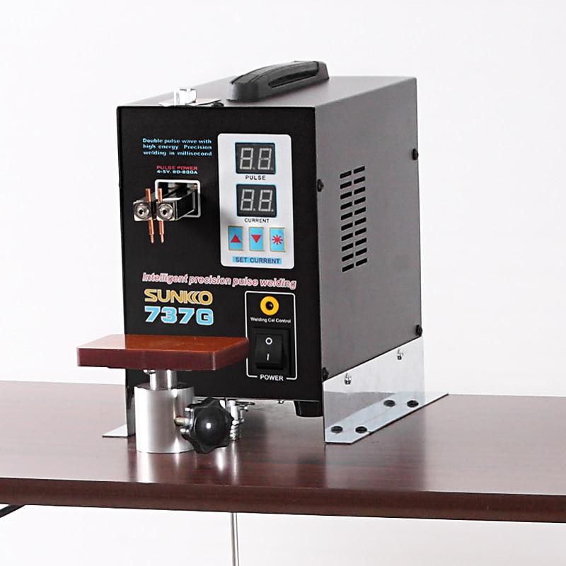 SUNKKO 737g Posto Della Batteria saldatore 1.5kw LED della luce del Punto di Saldatura per 18650 batteria di saldatura di precisione pulse spot saldatori