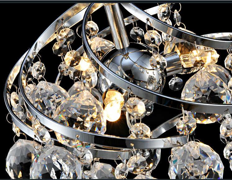 250 мм современный роскошный светильник K9 обувь с украшением в виде кристаллов висит проволочным шариком подвесной потолочный светильник Гостиная люстра E14 светодиодный светодиодные лампы освещения