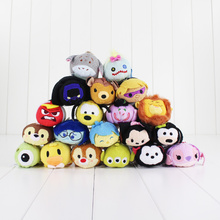 Tsum Tsum Plush toy doll Cute Screen Cleaner 7 9cm Snow white Mermaid Cinderella The Inside