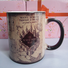 Harry Potter Tassen Marauders Map becher unfug verwaltet becher morphing kaffeetassen neuheit wärme ändernde farbe transforming Tee Tassen