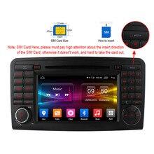 Lecteur DVD Pour Mercedes Benz GL Classe ML W164 ML300 ML320 ML350 ML450 ML500 4g SIM LTE  Android 6.0 Octa 8 Core Radio GPS BT