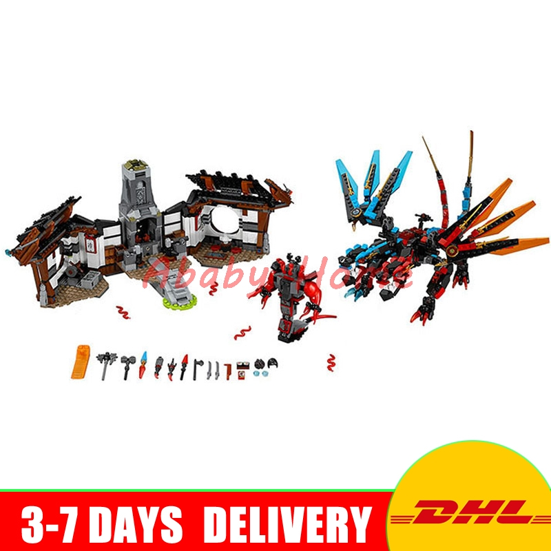 Bela 2017 NEW Dragon's Forge 10584 Building Kit Compatible with 06041 Ninja Bricks Models Building Blocks toys for childrens alesis forge kit