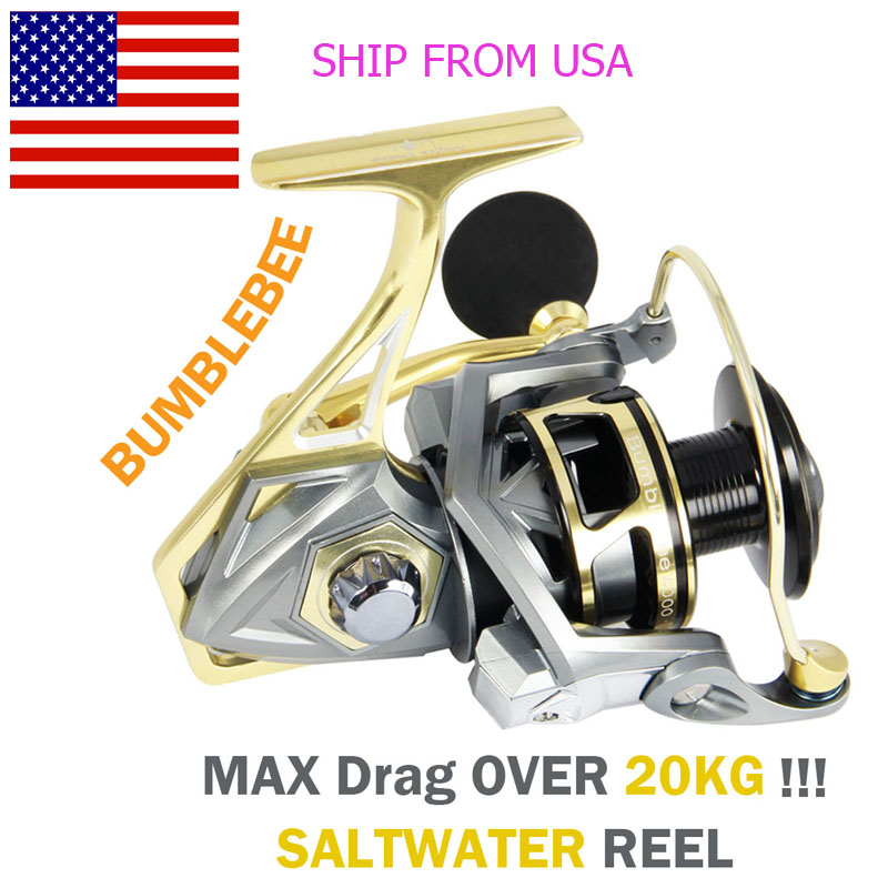 Angler Dream Saltwater Sea Fishing Spinning Reels 5 2 1 Ratio Max Drag 20kg CNC Metal