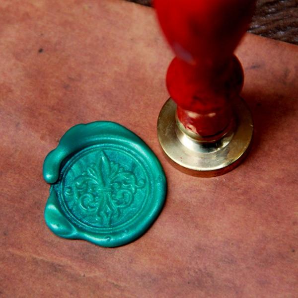 Decorative Fleur de Lys wax seal stamp,  Envelope seal DIY wax seal wedding stamp vintage custom design stamps ws138