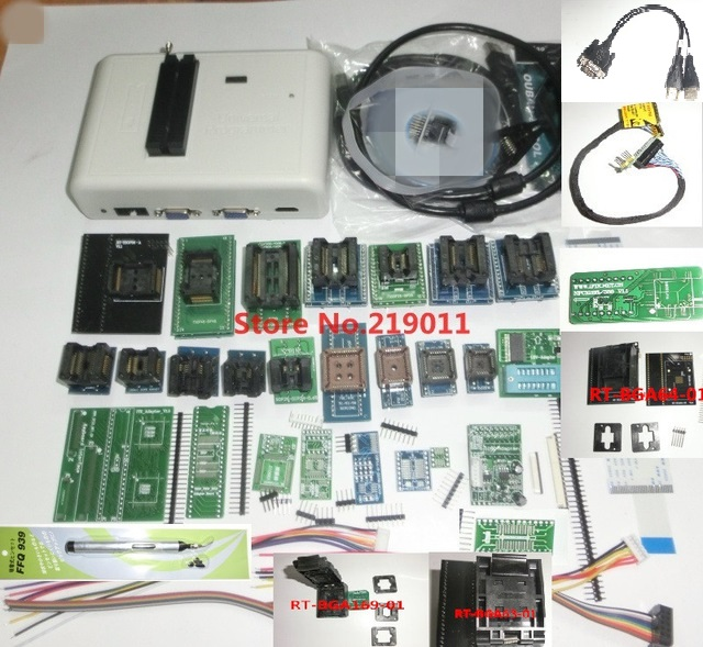 Newest Software ORIGINAL RT809H 35 ORIGINAL ADAPTERS WITH CABELS EMMC Nand FLASH Extremely fast universal Programmer