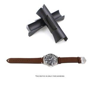 Image 5 - Rolamy 20mm כסף זהב שחור עלה זהב מוצק מעוקל סוף קישור עבור רולקס צוללן שעון להקת גומי עור