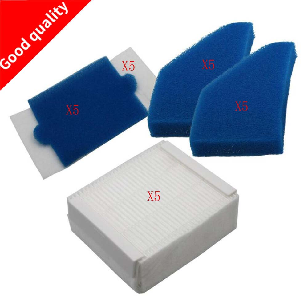 5 set Vacuum Cleaner Foam Filter Set Replacements dust cleaning filter kits for Thomas 787241, 787 241, 99 filter accessories skymen 1 set foam and felt filter vacuum cleaner filtering spare part for thomas 787241 vacuum cleaner accessories replacement