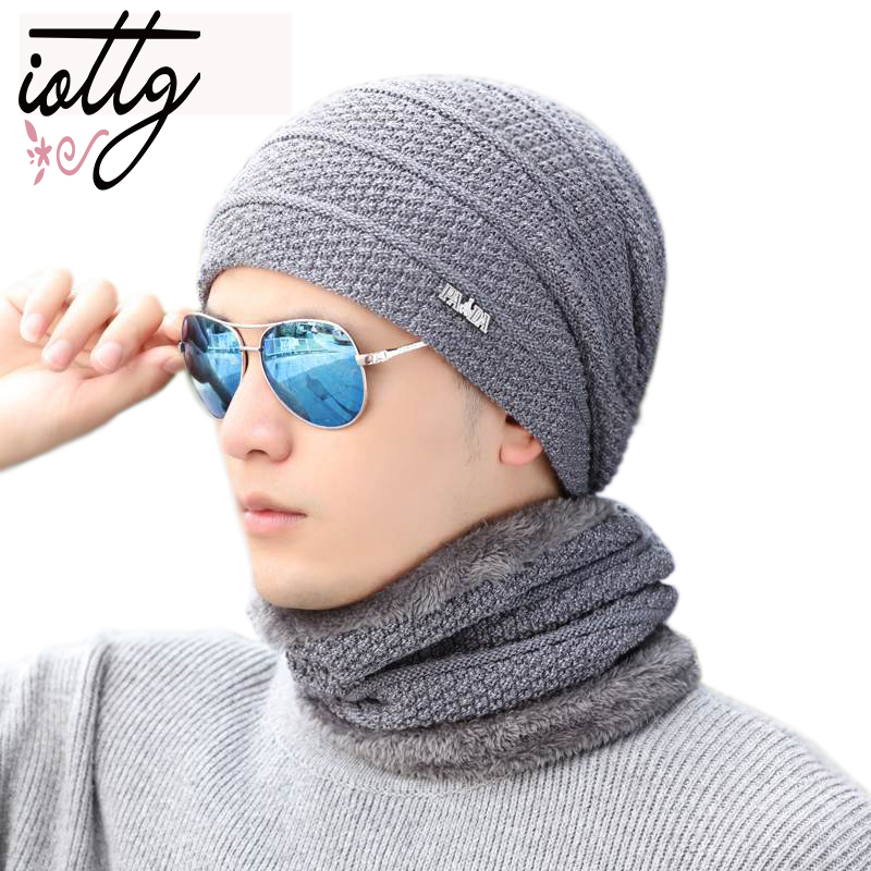 IOTTG Winter Hat Skullies Beanies Hat Winter Beanies For Men Women Wool Scarf Cap Balaclava Mask Gorras Bonnet Knitted Hats