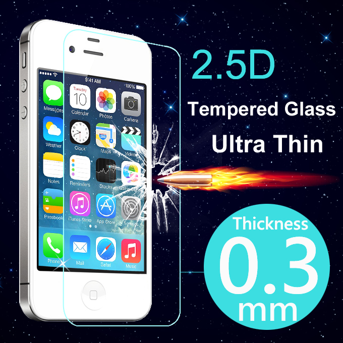 Ultra Thin Tempered Glass Screen Protector Case For iPhone S S C