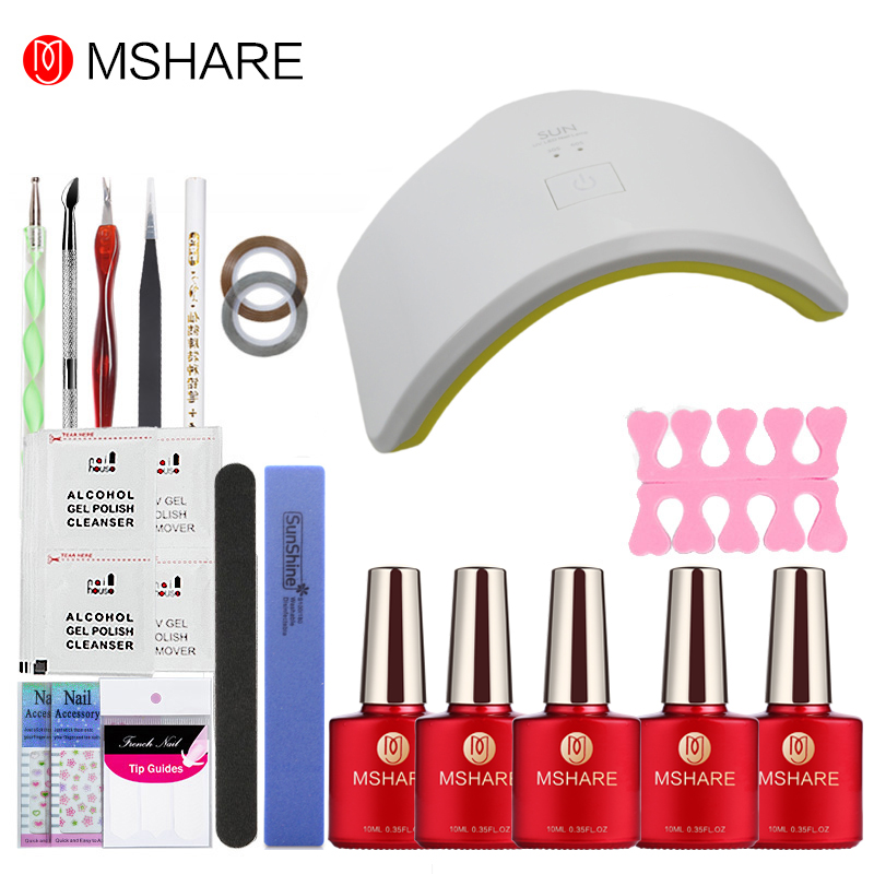MSHARE 39Pcs Nail Gel SUN9C Plus 18W LED Nail Lamp Dryer Soak Off Gel Nail Remover Practice Set File Nail Art Manicure ToolMSHARE 39Pcs Nail Gel SUN9C Plus 18W LED Nail Lamp Dryer Soak Off Gel Nail Remover Practice Set File Nail Art Manicure Tool