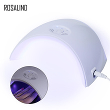 Розалинд 36 Вт Сушилка для ногтей УФ-светодио дный лампы для ногтей полировальные сушилки двойной Мощность лампа быстро вылечить для машины Маникюр с USB Nail Art инструменты