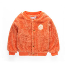 NEW Ins Grils Double-sided Arctic velvet coat Children's lovely warm clothes kid