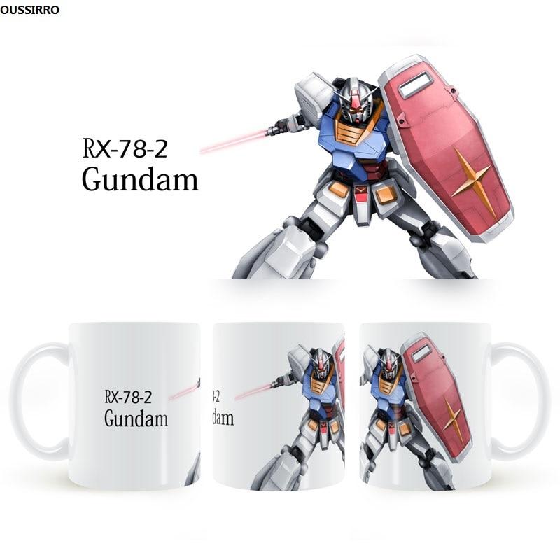 RX-78-2 Gundam Ceramics Mug Anime coffee cup Desktop decoration Drinking water cup  gift for boyfriend on anniversary