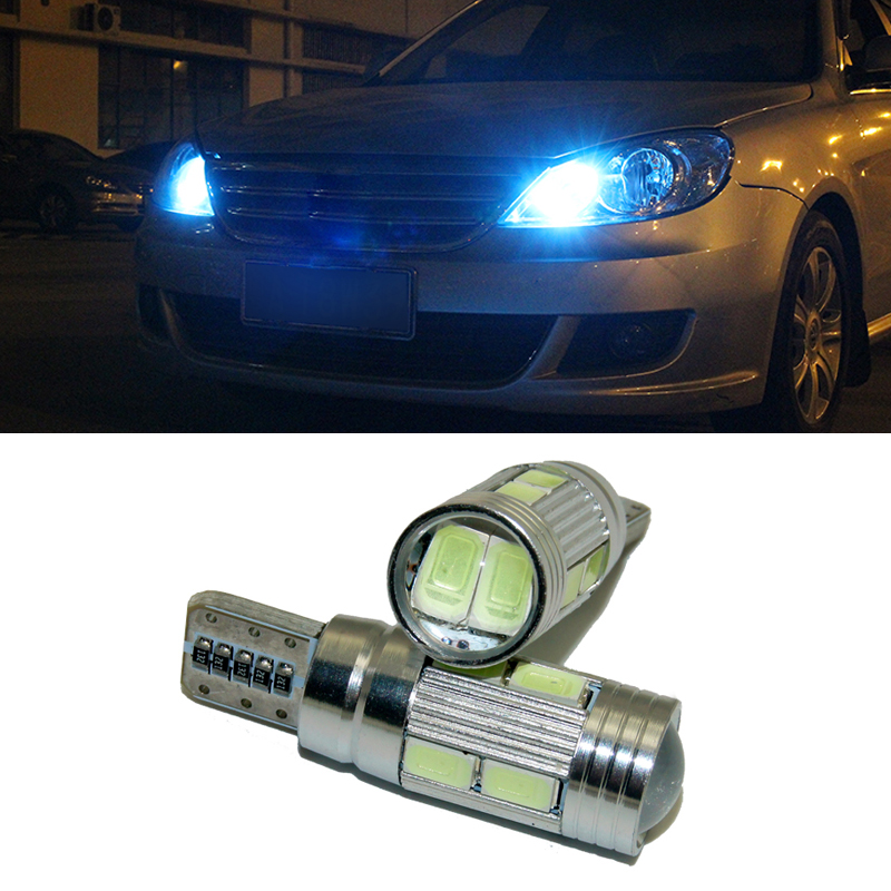 2 X Led W5W T10 canbus Car Light with Projector Lens for <font><b>Lexus</b></font> rx rx330 330 350 lx470 is200 is250 lx570 gx460 GX ES LX 300 250 image