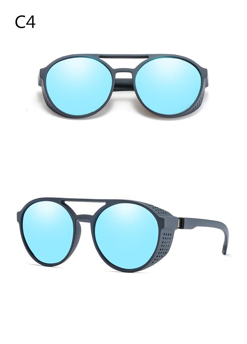 Men's sunglasses plastic + metal round frame glasses UV400 fashion ladies sunglasses classic brand driving night vision goggles (2)
