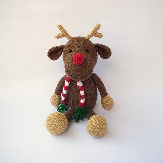 Rudolph a veados, Brinquedo crochê, Diy