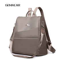 Fashion Lightweight Womens Backpack Oxford Waterproof Classic Elegant Girl Rucksack Shopping Leisure School Bag New Design