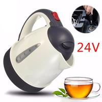 Auto 24V 1000ML Car Hot Kettle Portable Water Heater Travel for Tea Coffee 304 Stainless Steel Large Capacity Vehicle Heater