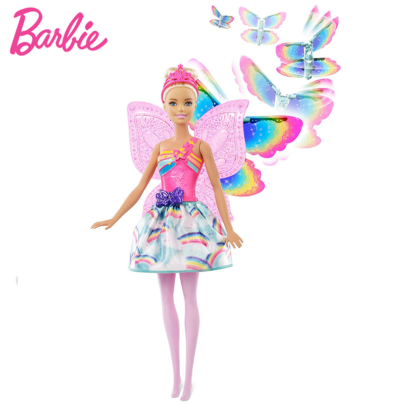 Original Brand Rainbow Lights Mermaid Barbie Doll Feature Mermaid Doll The Girl A Birthday Present Girl Toys Gift Boneca in Dolls from Toys Hobbies