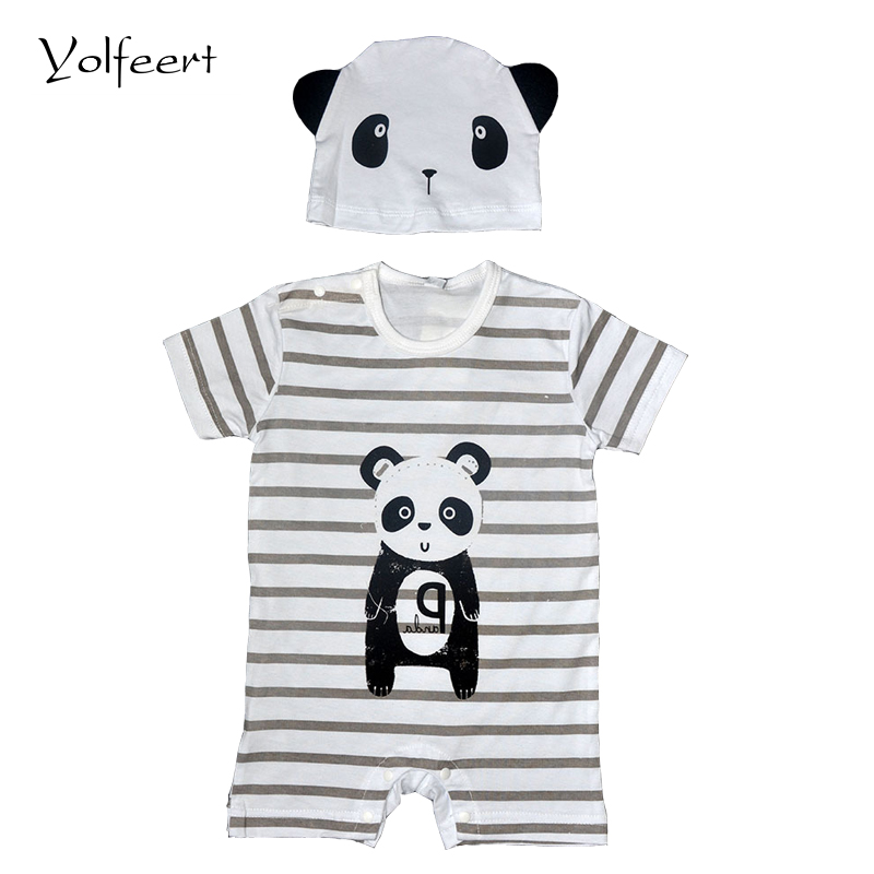 Yolfeert Romper & Hat Costume Summer Baby Rompers Newborn Infant Baby Boy Girl Romper New Born Cotton Suit Baby Clothes Jumpsuit new arrival boy costumes rompers cotton newborn infant baby boys romper jumpsuit sunsuit clothes outfits