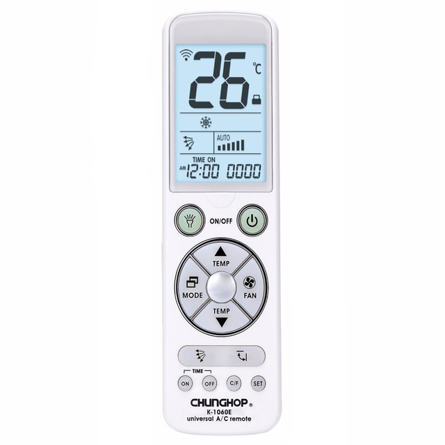 CHUNGHOP with back light big monitor Universal controller Air Conditioner air conditioning remote control K 1060e