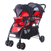 Baby baby twin baby pram front and rear stroller land scape stroller two baby stroller pram