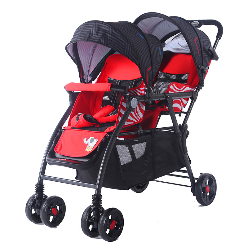 Baby baby twin baby pram front and rear stroller land scape stroller two baby stroller pramBaby baby twin baby pram front and rear stroller land scape stroller two baby stroller pram