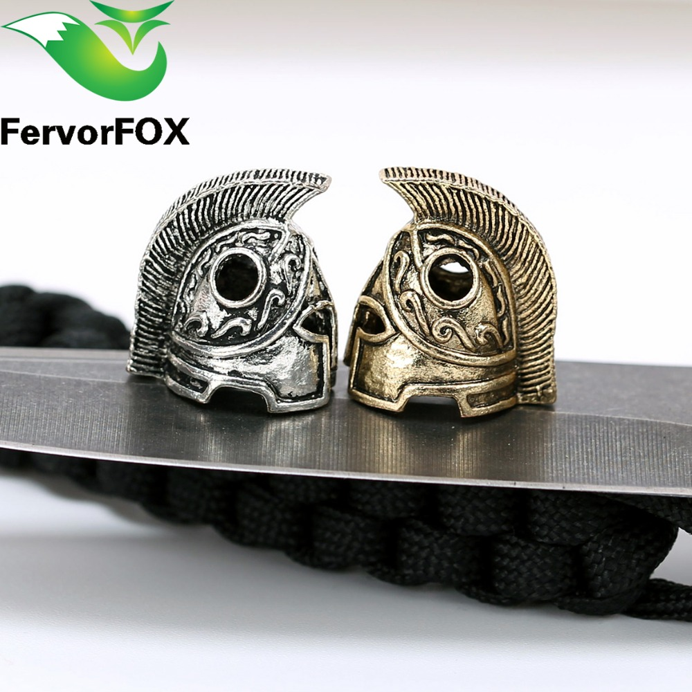 1pc Paracord Beads Metal Charms Skull For Paracord Pulsera Accesorios de Supervivencia, DIY Colgante Hebilla para Paracord Cuchillo Cordones