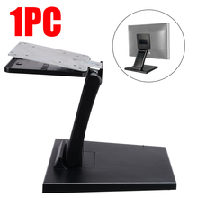 Universal 10-27 Inch Folding Desk Monitor Stand Adjustable Touch Screen Monitor Holder For LCD LED Monitor Bracket original factory heavy duty 10 32 inch vesa touch screen stand bracket for pos dz01a
