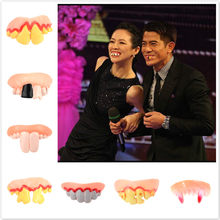 9 Style Incredible Tricks Property Game Toy Gags & Practical Jokes Halloween Ugly Denture False Rotten Teeth Model Prank Scare(China)