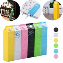 Portable External Milk Carton Creative Box 2600mAh Power Bank Battery Charger Case Box