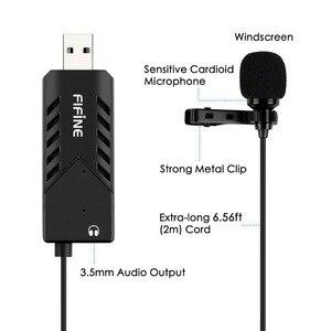 Image 3 - FIFINE Lavalier Clip on kardioidalny komputer pojemnościowy mikrofon plug and play mikrofon USB z kartą dźwiękową na PC i Mac  K053