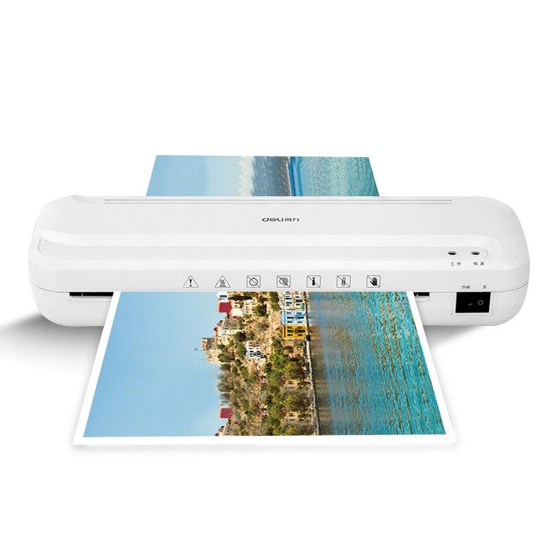 Deli 33939 A4 taille Document Photos plastifieuse dédiée pas de boursouflure plastifieuse pour bureau maison Mini plastifieuse chaude