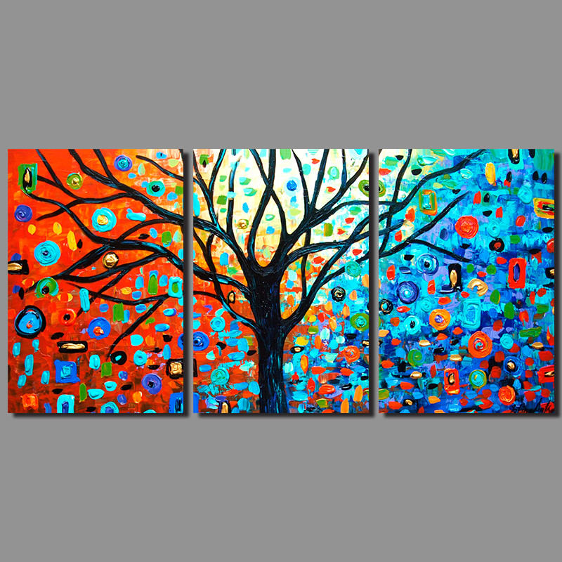 Canvas Tree Flower Painting