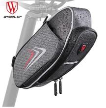 WHEEL UP Waterproof MTB Bicycle Rear Bags Cycling Rear Seat Tail Bag Reflective Bike Saddle Bag With Water Bottle Pocket rockbros c7 nylon bicycle saddle bag with water bottle pocket