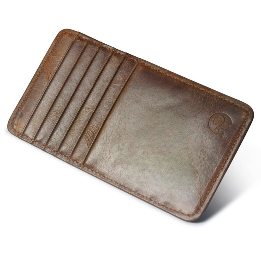 Hot Sale PU Leather Slim Credit Card Holder Mini Wallet ID Case Purse Pouch Black Brown Pocket Card Slot Bag Drop Shipping