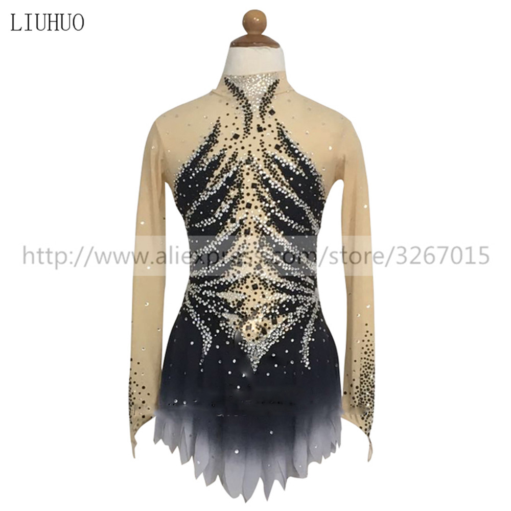 Figure Skating Dress Women's Girls' Ice Skating Dress Roller skating Competition Athlete's same paragraph Shiny rhinestone