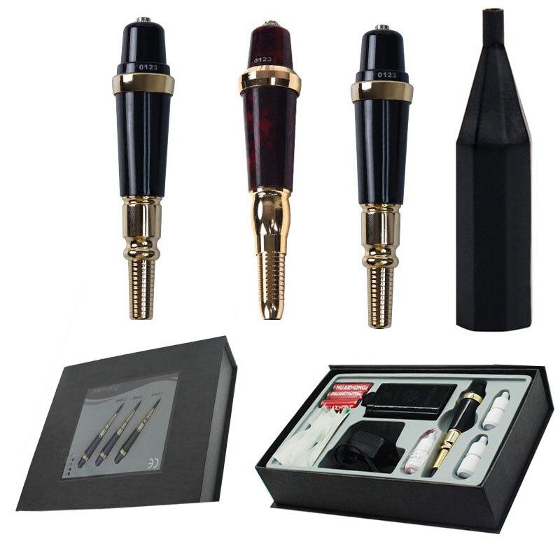 Permanent Makeup Tattoo Machine Permanent Makeup Golden Rose Pen Tattoo Machine Tools Kit Inks Needles