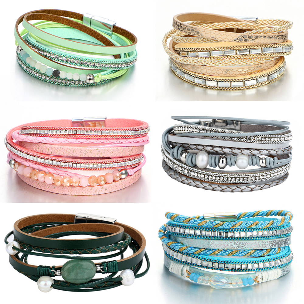 17KM Новий дизайн Beads Кристал кілька - Модні прикраси