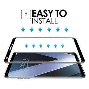Image 4 - 3D โค้งขอบคลุมทั้งหมดกระจกนิรภัยสำหรับ LG กำมะหยี่ V30 v30s V35 V40 V50 v50s g8x G8 G7 บวก thinq 5g ฟิล์มกันรอย