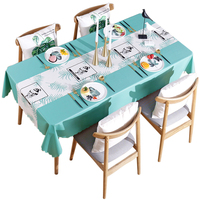 PVC Tablecloth Oil Waterproof Table Plastic Cover Table Cloth 90 x 90/135/150 110x160 120 x 120/170 135 x 135/180/190/200/220