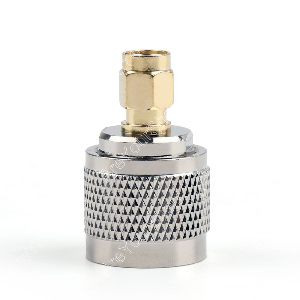 Adapter N Plug Male To RP-SMA Jack Male RF Connector M/M 10Pcs 50ohm PTFE Straight Connector NEW wholesale wholesale 10pcs lots n female jack to sma male plug rf coaxial connector adapter cable