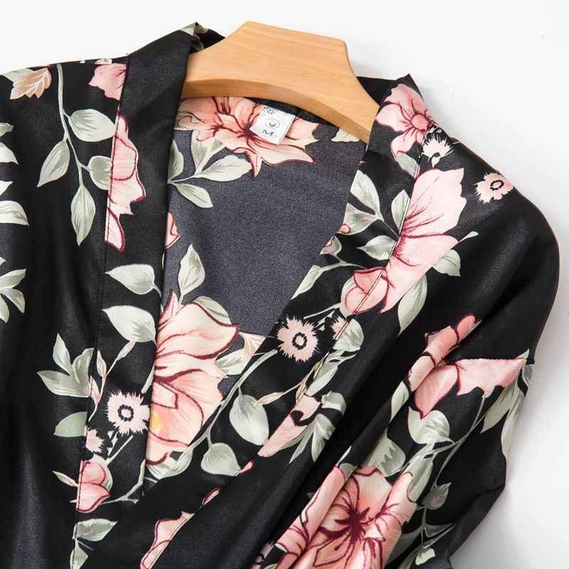 レディースセクシーなパジャマセットシルクサテン 5 個のスーツパジャマセクシーなレースの花のスパースター女性寝間着ホームウェア Lenceria Mujer d78394AD